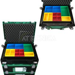 Chariot mobile Hitachi avec base pour les valises stackable roues et freins