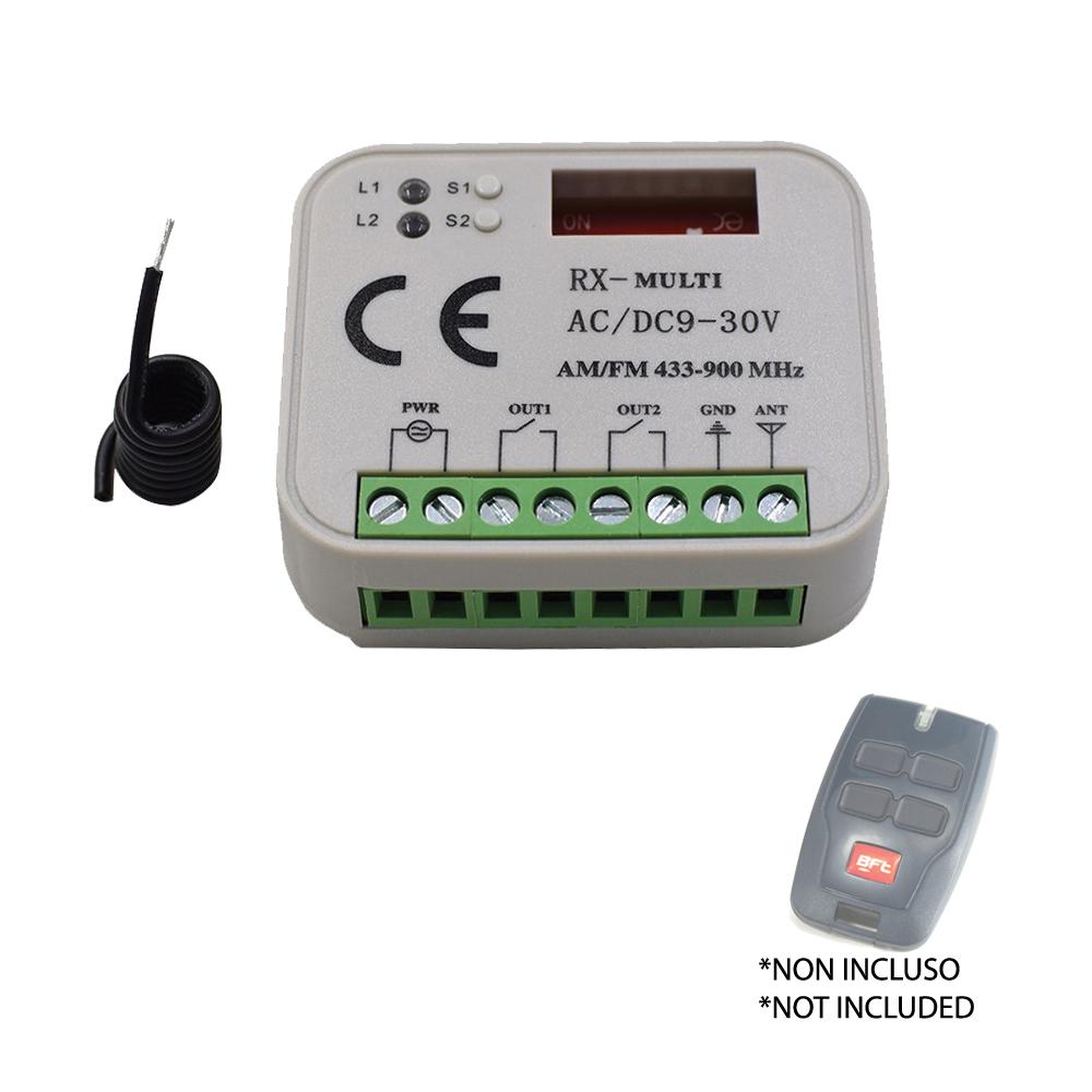 Récepteur Radio Récepteur Télécommandes bft 433 Mitto B Rcb Automation Rxmulti